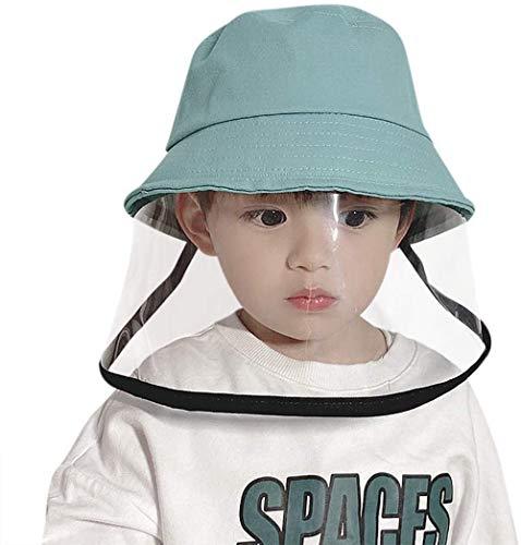 PAADIYA Sombrero Protector Tapa antisaliva Bebé Transparente Careta Tapa del Cubo Sombrero para el Sol Algodón Primavera Verano Sombrero de Pescador Gorra de Visera Al Aire Libre Colegio