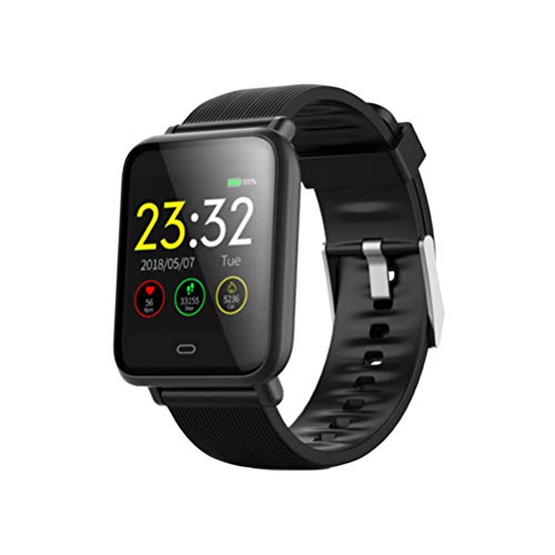 UKCOCO Q9 Smart Watch Band, IP67 Life Monitor de presión Arterial Impermeable Pantalla a Color Deporte Fitness Pulsera Reloj de Pulsera Inteligente Compatible con iOS Android Phone (Negro)
