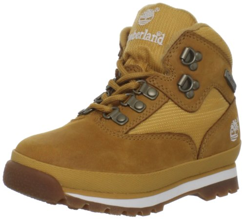Timberland Euro Hiker Leather and Fabric Boot (Toddler/Little Kid/Big Kid),Wheat,4 M US Toddler