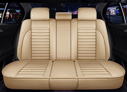 ZTHL Cuero Universal Cubierta de Asiento de Coche Negro para Audi A3...