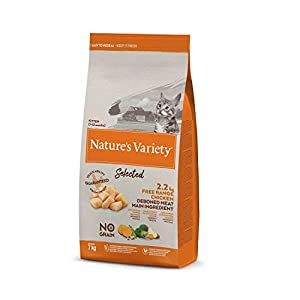 Nature's Variety Selected - Pienso para gatitos con pollo campero deshuesado 7 Kg