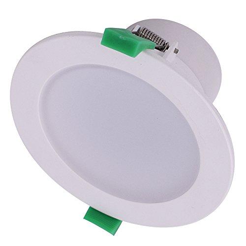 6X 10W LED Downlights Dimmable 850-950lm LED Encastré Plafonniers 3000K chaud blanc Φ70mm IP44 Lumière