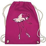 Shirtracer Tanzsport - Balletttänzerin Ballerina - Unisize - Fuchsia - turnbeutel ballerina - WM110 - Turnbeutel und Stoffbeutel aus Baumwolle