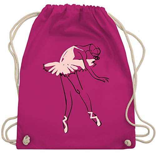 Shirtracer Tanzsport - Balletttänzerin Ballerina - Unisize - Fuchsia - turnbeutel ballett - WM110 - Turnbeutel und Stoffbeutel aus Baumwolle
