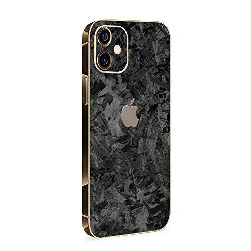 Normout iPhone 12 Folie Rückseite Forged Carbon - 2X iPhone 12 Rückseite Folie, inklusive 2X iPhone 12 Kameraschutz Folie - iPhone 12 Skin Schützt vor Kratzern, Beschädigungen & Fingerabdrücken