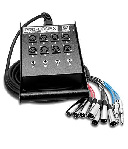 Hosa SH-8X4-25 Pro-Conex Stage Box Snake, Hosa 8 x XLR Sends und 4 x 1/4