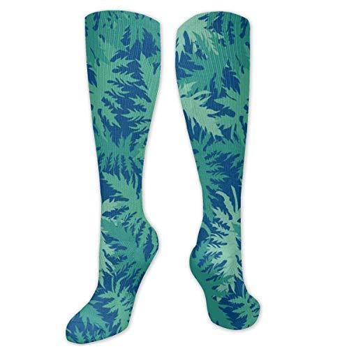 Calcetines largos unisex con diseño de camuflaje de vainilla y algodón por encima de la rodilla, para cosplay, para deportes, gimnasio, yoga, senderismo, ciclismo, correr, fútbol