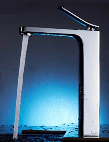 Waterkraan voor wastafelarmatuur van koper van hout voor badkamer met warm water en koud water, creatieve armatuur voor eenpersoonsbed, gat, in wit en zwart Een