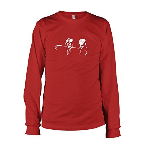 Texlab - Mega Fiction - Langarm T-Shirt, Herren, Größe S, rot