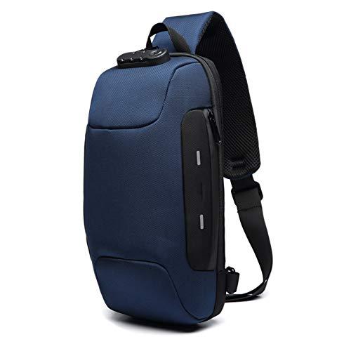 Syfinee Anti-Theft Backpack with 3-Digit Lock Shoulder Bag Waterproof for Mobile Phone Travel Antirrobo Mochila con Cerradura de 3 Dígitos Bolso de Hombro Impermeable para Teléfono Móvil Viaje