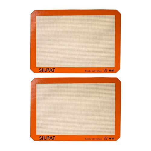 Silpat AE420295-07 Premium Non-Stick Silicone Baking Mat Bundle (11.6 x 16.5 Inch, 2-Pack) (2 Items)