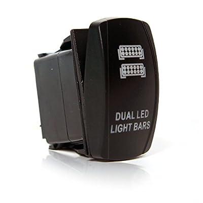 Logo LED Light Rocker Switch Toggle 12V 20A 5 PIN Tow Truck Jeep Automotive