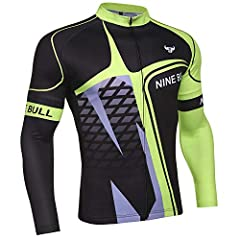 Sun Protection: Ideal for cooler days, but still very comfortable to wear in summer. Mesh fabric breathes very well in hot days. Long sleeved bicycle jerseys can protect you from sun burns. With professional lightweight and breathable fabric, provide...