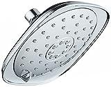 AquaDance Pressure 3-Function Giant 7.3-Inch Designer Rain Shower Head w/High Pulsating Massage & Whisper-Quiet(TM) Technology More Power-Less Noise/Brass Metal Connection Nut, Anti-Clog Jets, Chrome