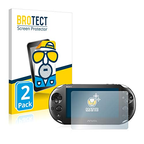 BROTECT Protector Pantalla Anti-Reflejos Compatible con Sony Playstation PCH-2000-Serie PS Vita Slim Touchpad (2 Unidades) Pelicula Mate Anti-Huellas