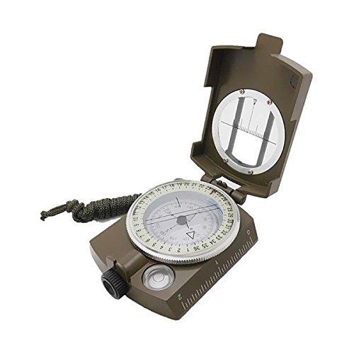 Boussole Militaire de survie - précision avec système de visée - Imperméable et solide / antichoc - Conçue pour la randonnée, la course d'orientation, bivouac et camping sauvage