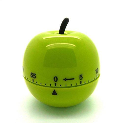 Eieruhr Kurzzeitmesser Wecker Küchentimer Küchenuhr Schaltuhr Timer Kochhilfe Kugel-Apfel grün