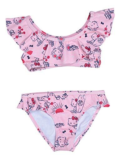 Hello Kitty - Costume da bagno da bambina, 2 pezzi, colore: rosa