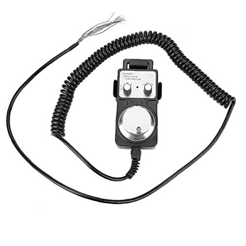 Electrónico Handwheel Generador de pulso Colgante Volante 5V CNC máquina herramienta con soporte base negro