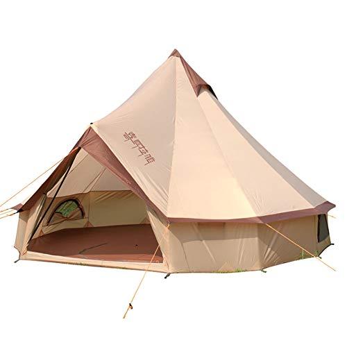 Ye Wang Carpas Bell Tipi, Tienda de campaña para Exteriores de 3-10 Personas, Tienda de campaña Impermeable al Aire Libre para Grupos Familiares de Camping, Tela Oxford 150D, con Bolsa de Transporte