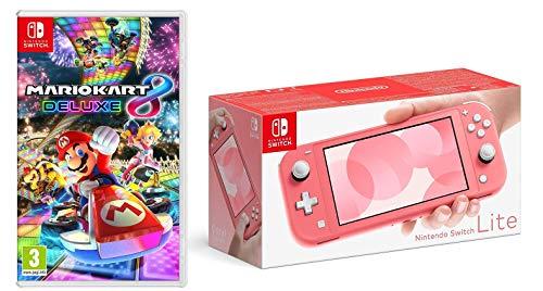 Nintendo Switch Lite - Coral + Mario Kart 8 Deluxe