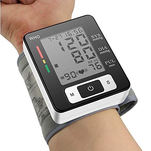 WANGXN Handgelenk-Blutdruckmessgerät Vollautomatisch 2 Benutzermodi mit jeweils 90 Speicherplätzen Digitales elektrisches Blutdruckmessgerät