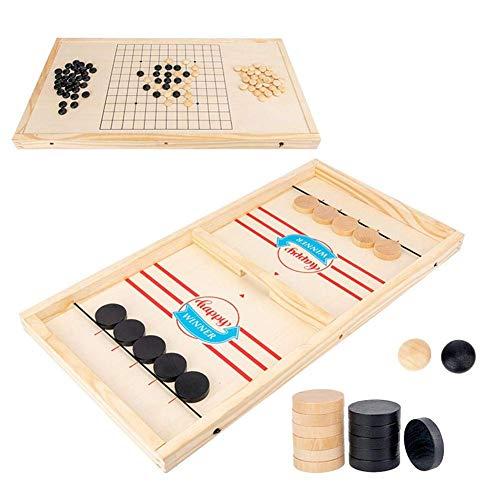 LIUCHANG Fast Sling Puck Spiel, Tisch Eishockey Spiel, Slingshot Spiele Spielzeug, Tischhockey Party Spiel Tisch Desktop Battle 2 in 1 Eishockey Spiel for Erwachsene Kinder liuchang20 (Size : Adult)