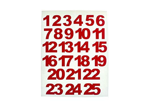 Miniblings Zahlen Adventskalenderzahlen 24 25 Adventskalender Aufkleber Nummern DIY 15mm