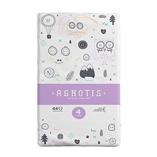 AGNOTIS - 176 Baby Windeln Größe 4 für Babys 7-18 kg | mit hervorragendem Auslaufschutz und Feuchtigkeitsindikator | dermatologisch getestet |4 Pkg x 44 Windeln, 0,19€ Stk.