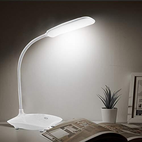 ZZSSC Lámpara de Escritorio LED Táctil dimmable Plegable DC 5V USB Tabla de imponexión 6500K Lámpara de Noche portátil Luz de protección Ocular Luz Nuevo