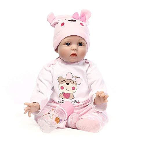 My Super Star Reborn Baby Dolls 22 inch, Quality Realistic Handmade Babies Dolls Girls Soft Vinyl Silicone Lifelike Kids Gifts / Toys Age 3+, EN71 Certification