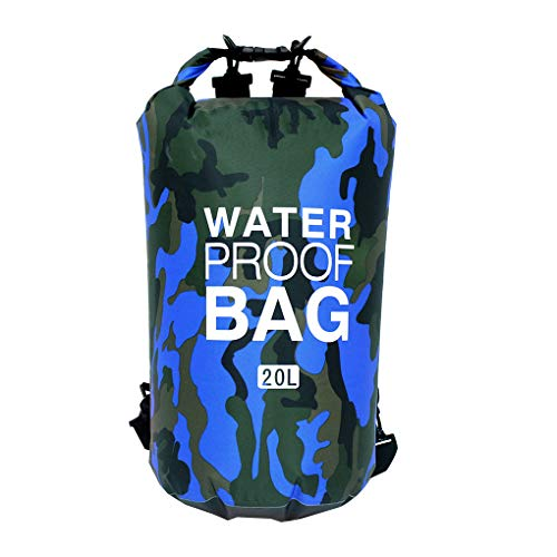 Portable Swimming Waterproof Dry Bag Drawstring Gym Bags Sack Storage Pouch Backpack - Orange Camouflag -5L-Single Shoulder for Outdoors Kayaking, Rafting, Boating, Hiking,Fishing