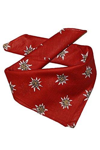 Edelnice Trachtenmode Trachten Halstuch aus Baumwolle viele (rot)