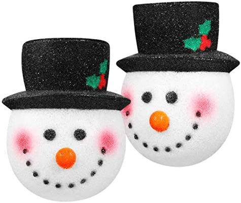 Amosfun 2PCS Christmas Porch Light Covers Christmas Outdoor Decoration Supply Snowman Light product image