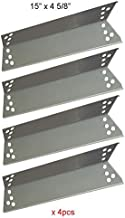 BBQ funland SH0681(4-Pack) Stainless Steel Heat Shield Heat Plate, Heat Tent, Burner Cover, Flavorizer Bar for Charbroil, ...