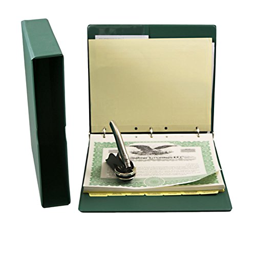 Blumberg Green Beauty Limited Liability Company (LLC) Kit with Records Binder, LLC Seal, Printed Membership Certificates with Full-Page Stubs, and More (Green with PDF Operating Agreements)