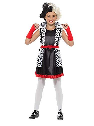 Smiffys-Disfraz de señora Malvada de Smiffy'S, Color Blanco y Negro, S-Age 4-6 Years 49696S