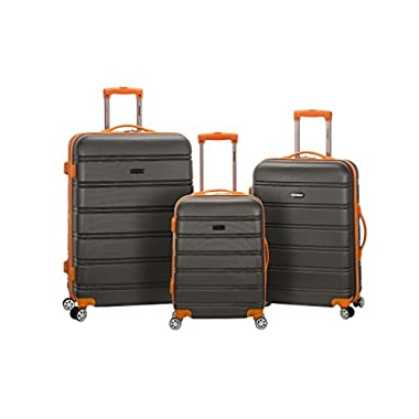 Rockland Melbourne Abs Luggage Set, Charcoal