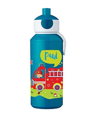 Mijn Zwergenland drinkfles Mepal Campus pop-up met naam blauw Brandweer nieuw