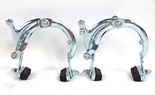 CicloSportMarket Coppia Ganasce Freno Anteriore + Posteriore in Acciaio per Bicicletta Vintage - Graziella