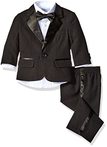 Nautica Baby Tuxedo Suit Set with Bow Tie, Black, 12 Months