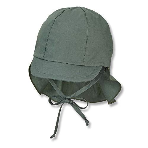 Sterntaler Unisex Baby Schirmmütze M. Nackenschutz 1511410 Winter Hut, Dunkelgrün, 47 EU
