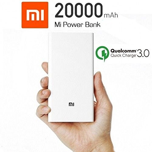 Power Bank Xiaomi 20000mAh portátil cargador de batería Blanco para Smartphone Tablet etc..