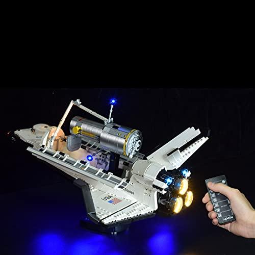 LYCH Juego de iluminación LED con mando a distancia para Lego Nasa Space Shuttle Discovery, iluminación compatible con LEGO 10283, sin juego de Lego