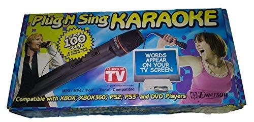 Sale!! Emerson Plug N Sing Karaoke Includes 100 Songs
