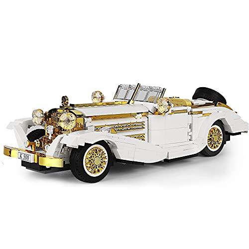 KEAYO Technik Oldtimer Auto Modell, Mould King 10003, Technik K500 Vintage Auto Klemmbausteine Bausatz Kompatibel mit Lego Technik