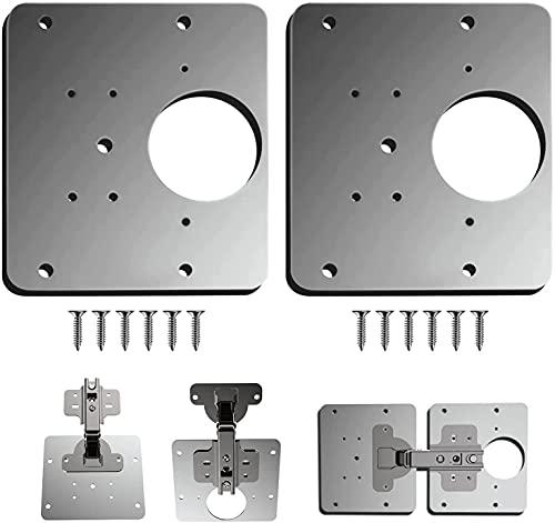 Armario placa de reparación de bisagras, 9 x 9 cm, para madera, muebles, estantes, gabinete,bisagras de armario