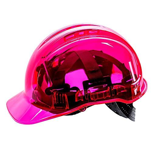 Portwest Peak View Hard Hat Vented, Colour: Pink, PV50PIR
