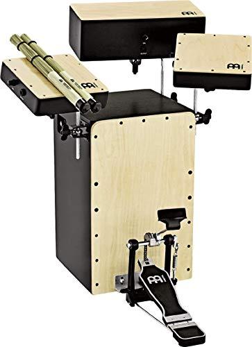 Meinl Percussion Cocktail Cajon Kit Instrument/Trommel für Kinder und Erwachsene mit Tonabnehmer inkl. Zubehör - Trommelkiste (Drumbox) Einsteiger Schlagzeug - Baltic Birch Frontplatte (PBASSCAJ-KIT)