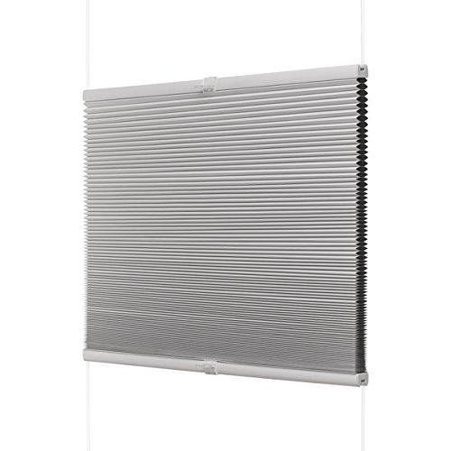 Ventanara Waben Plissee ohne Bohren Weiß verdunkelnd Klemmfix Plisseerollo Faltrollo verspannt inklusive Premium Klemmträger 90 x 130 cm